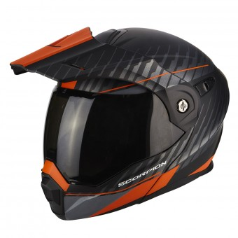 Casque Modulare Apribile Scorpion ADX-1 Dual Matt Black Orange
