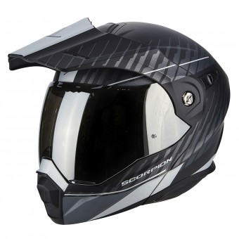 Casque Modulare Apribile Scorpion ADX-1 Dual Matt Black Silver