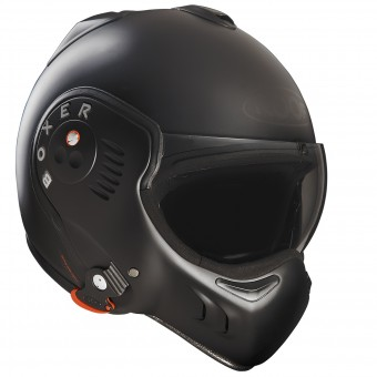 Casque Modulare Apribile Roof Boxer V8 Full Black Opaco