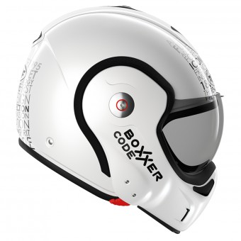 Casque Modulare Apribile Roof Boxxer Carbon Code Pearl White Black