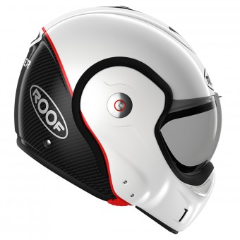 Casque Modulare Apribile Roof Boxxer Carbon Pearl White