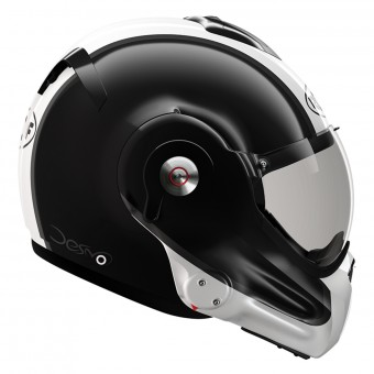Casque Modulare Apribile Roof Desmo Flash Black Pearl White 3e Generation