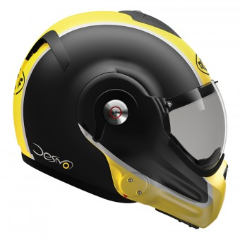 Casque Modulare Apribile Roof Desmo Flash Mat Black Yellow 3e Generation