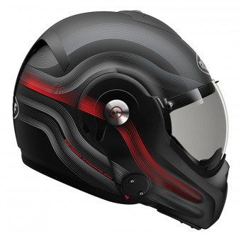 Casque Modulare Apribile Roof Desmo Streamline Matt Black Titan Red 3e Generation
