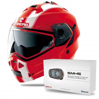 Casque Modulare Apribile Caberg Duke II Legend Ducati Red White