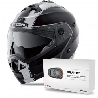Casque Modulare Apribile Caberg Duke II Legend Matt Black White