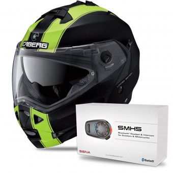 Casque Modulare Apribile Caberg Duke II Legend Matt Black Yellow Fluo