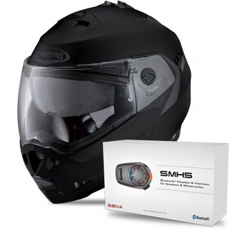 Casque Modulare Apribile Caberg Duke II Matt Black