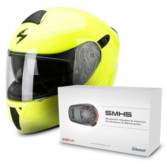 Casque Modulare Apribile Scorpion Exo 920 Neon Yellow