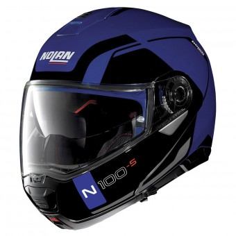 Casque Modulare Apribile Nolan N100 5 Consistency N-Com Flat Caymen Blue 24