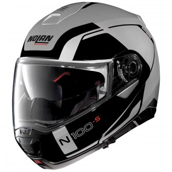 Casque Modulare Apribile Nolan N100 5 Consistency N-Com Flat Silver 21