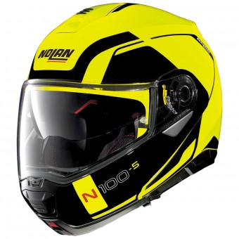 Casque Modulare Apribile Nolan N100 5 Consistency N-Com Led Yellow 26