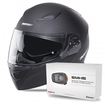 Casque Modulare Apribile NOX N965 Matt Black