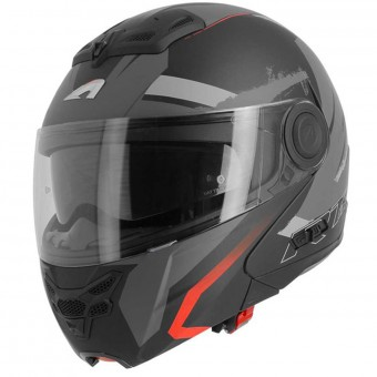 Casque Modulare Apribile Astone RT 800 Crossroad Energy Matt Black Red