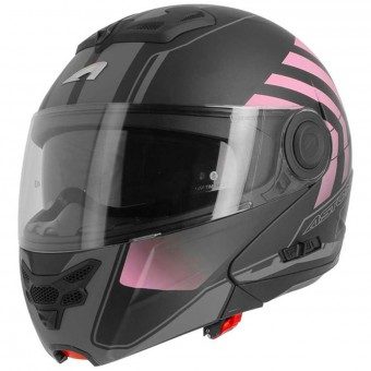 Casque Modulare Apribile Astone RT 800 Crossroad Matt Black Pink