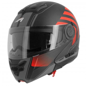 Casque Modulare Apribile Astone RT 800 Crossroad Matt Black Red