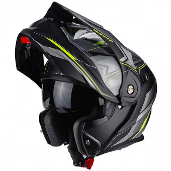 Casque Modulare Apribile Scorpion ADX-1 Anima Matt Black Neon Yellow