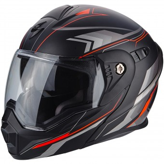 Casque Modulare Apribile Scorpion ADX-1 Anima Matt Black Red