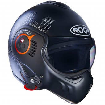 Casque Modulare Apribile Roof Boxer V8 1995 Matt Black Fluo Orange