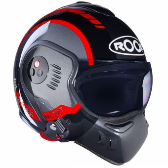 Casque Modulare Apribile Roof Boxer V8 LP20 Black Metal Red