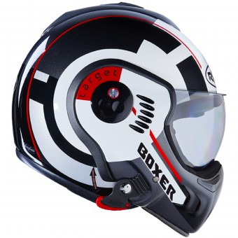 Casque Modulare Apribile Roof Boxer V8 Target White Black Red