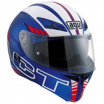 Casque Modulare Apribile AGV Compact ST Seattle Matt Blue Red