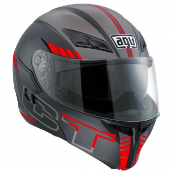 Casque Modulare Apribile AGV Compact ST Seattle Matt Silver Red