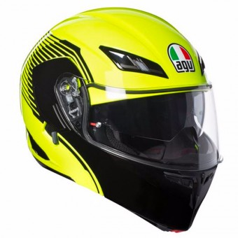 Casque Modulare Apribile AGV Compact ST Vermont Yellow Fluo Black