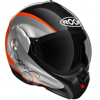 Casque Modulare Apribile Roof Desmo Fluo Black Orange