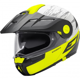 Casque Modulare Apribile Schuberth E1 Crossfire Yellow