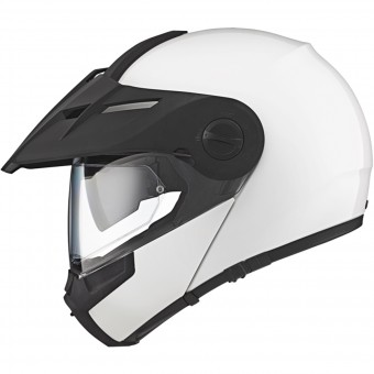 Casque Modulare Apribile Schuberth E1 Glossy White