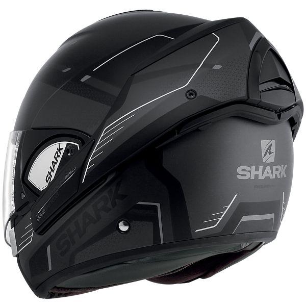 taglia M casco da moto nero//arancione Shark Evoline 3/Hataum