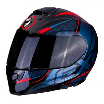 Casque Modulare Apribile Scorpion EXO 3000 Air Creed Nero Rosso