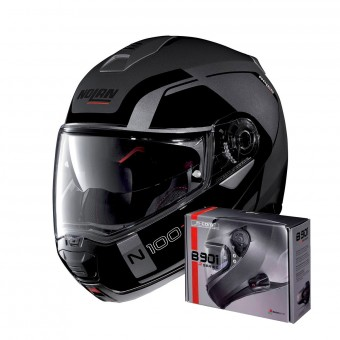 Casque Modulare Apribile Nolan N100 5 Consistency N-Com Flat Lava Grey 20