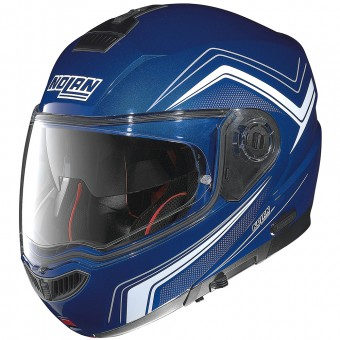 Casque Modulare Apribile Nolan N104 Absolute Como N-Com Cayman Blue 50