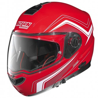 Casque Modulare Apribile Nolan N104 Absolute Como N-Com Corsa Red 46