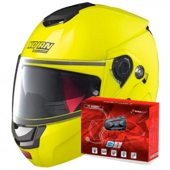 Casque Modulare Apribile Nolan N90 2 Hi-Visibility N-Com Fluo Yellow 22