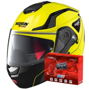 Casque Modulare Apribile Nolan N90 2 Straton N-Com Led Yellow 18