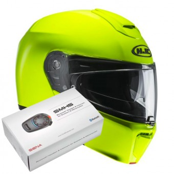 Casque Modulare Apribile HJC RPHA 90 Fluo Green