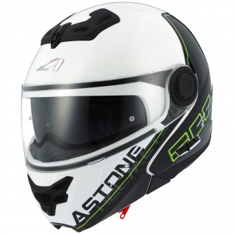Casque Modulare Apribile Astone RT 800 Linetek Green White