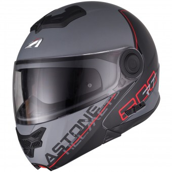 Casque Modulare Apribile Astone RT 800 Linetek Red Grey