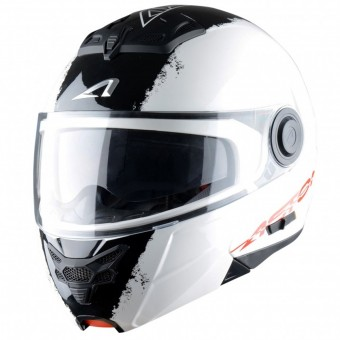 Casque Modulare Apribile Astone RT 800 Stripes White Black