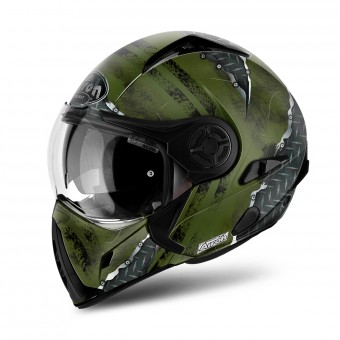 Casque Modulare Crossover Airoh J106 Crude Green Matt