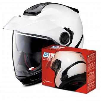 Casque Modulare Crossover Nolan N40 5 GT Classic N-Com White 5