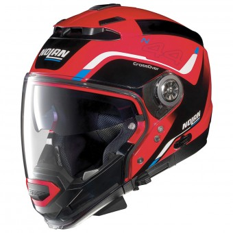Casque Modulare Crossover Nolan N44 Evo Viewpoint N-Com Corsa Red 46