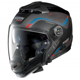 Casque Modulare Crossover Nolan N44 Evo Viewpoint N-Com Flat Lava Grey 49