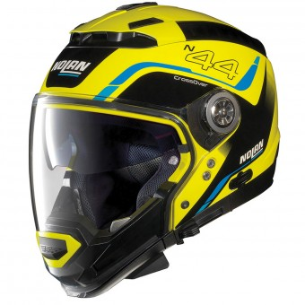 Casque Modulare Crossover Nolan N44 Evo Viewpoint N-Com Led Yellow 51