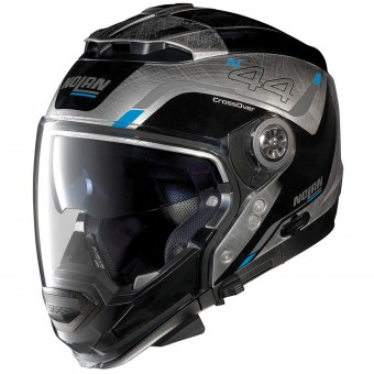 Casque Modulare Crossover Nolan N44 Evo Viewpoint N-Com Scratched Chrome 54