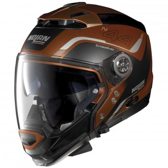 Casque Modulare Crossover Nolan N44 Evo Viewpoint N-Com Scratched Flat Copper 55