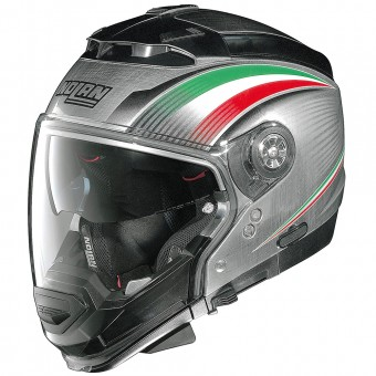 Casque Modulare Crossover Nolan N44 Evo Italy N-Com Scratched Chrome 15